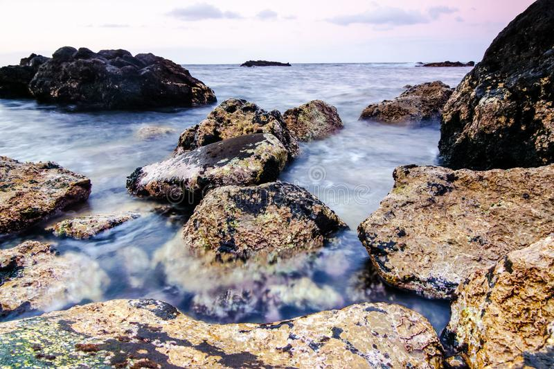 Costa de mar en Tenerife fotografía de archivo