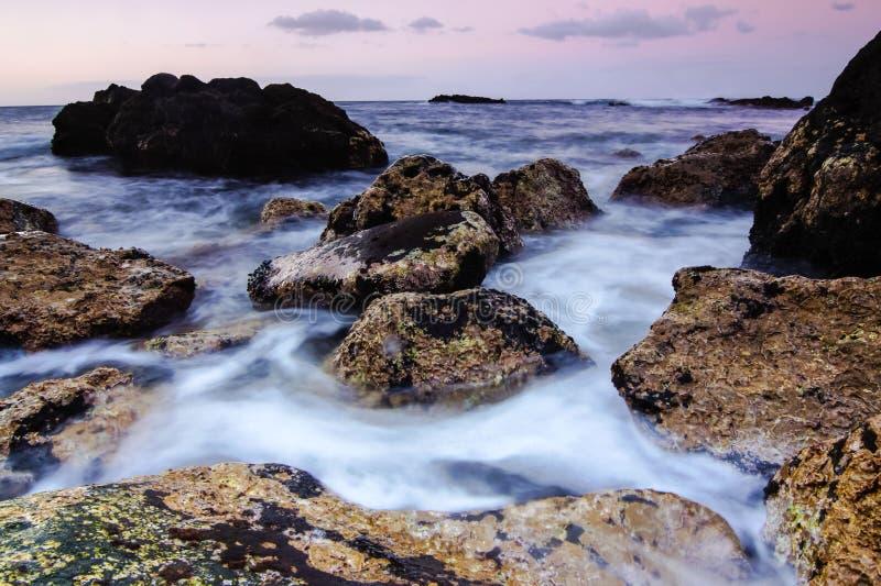 Costa de mar en Tenerife fotos de archivo