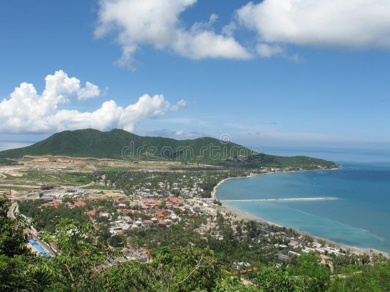 Costa de mar no console de Hainan imagens de stock