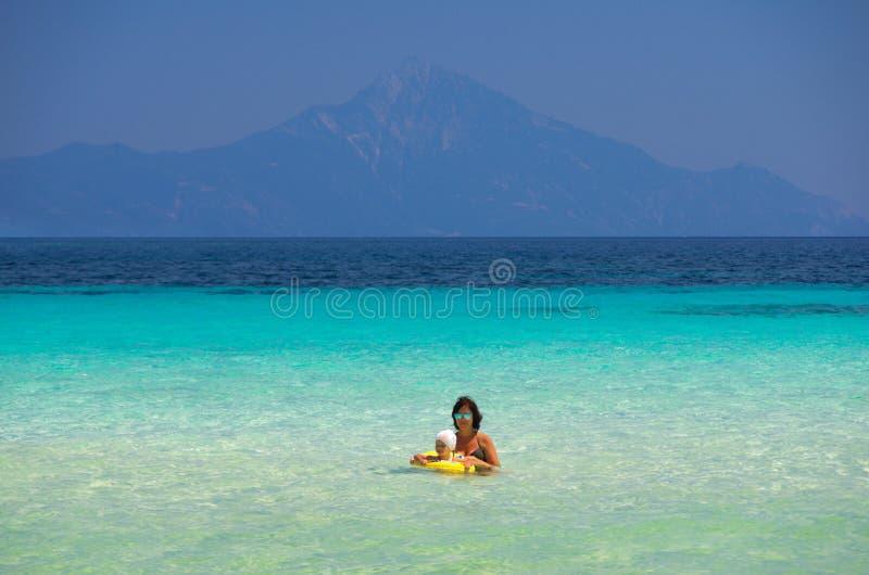 Costa de mar no verão foto de stock royalty free