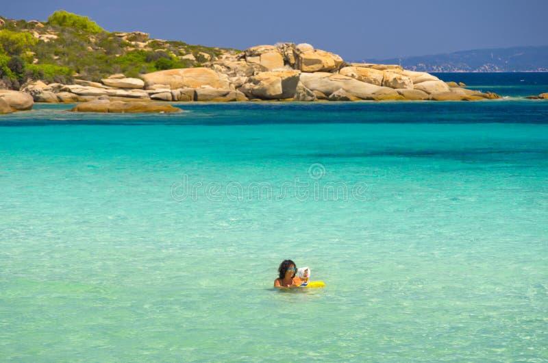 Costa de mar no verão imagens de stock