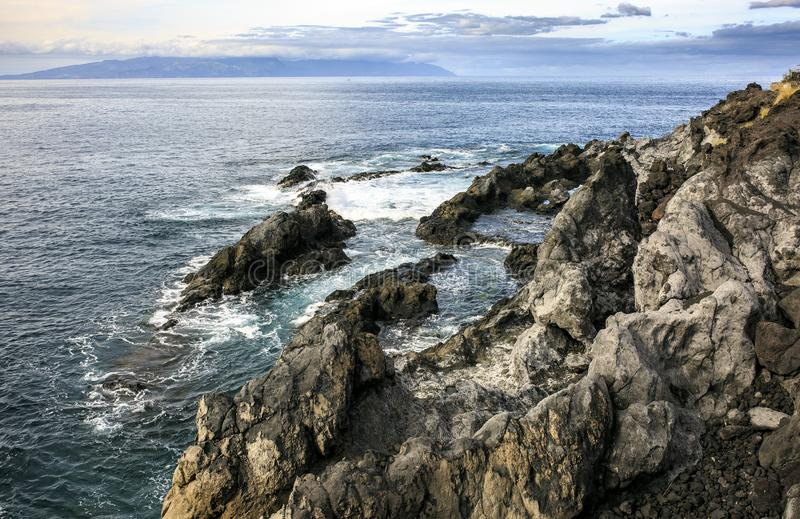 Costa de mar de Tenerife Islas Canarias fotografía de archivo