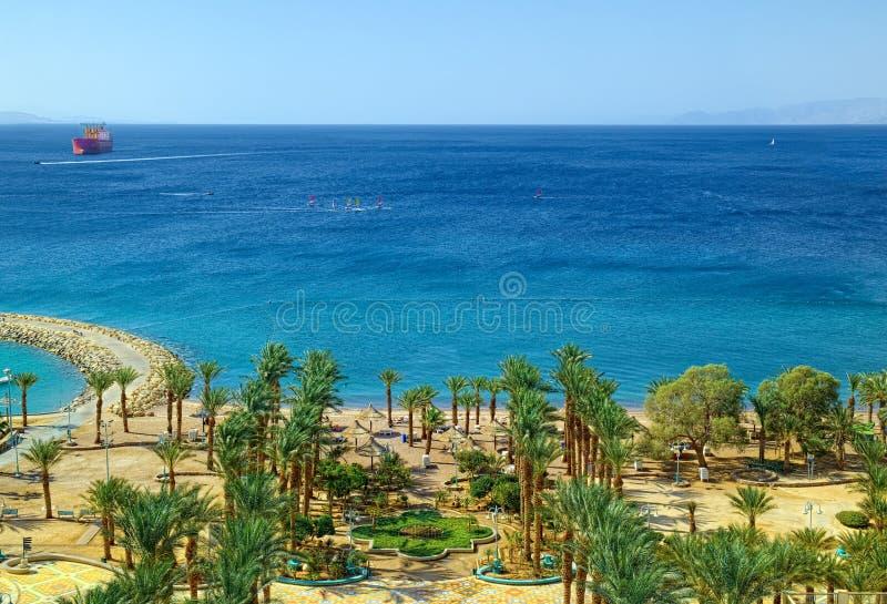 Costa de Mar Vermelho em Eilat imagem de stock