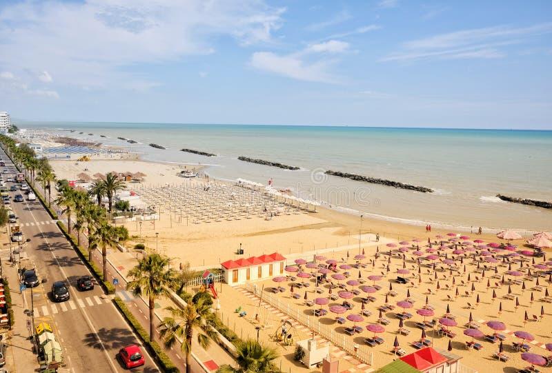 Costa de Montesilvano desde arriba foto de archivo libre de regalías