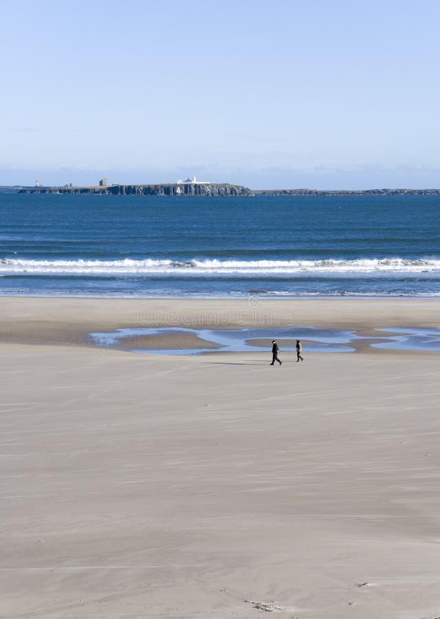 Costa de Northumberland foto de stock royalty free