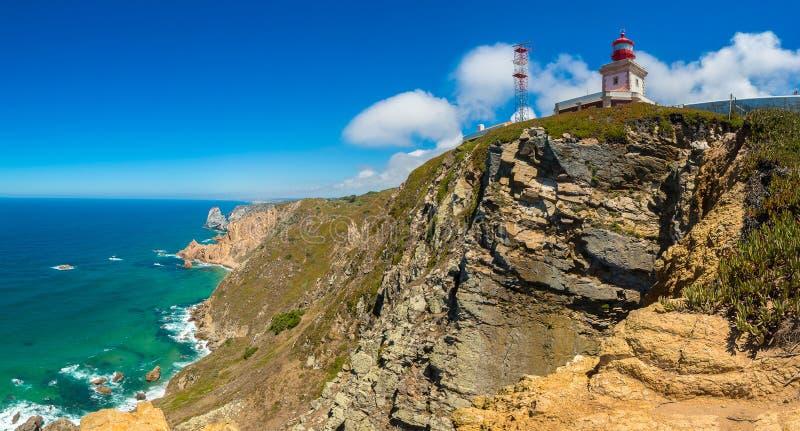 Costa de Oceano Atlântico em Portugal foto de stock