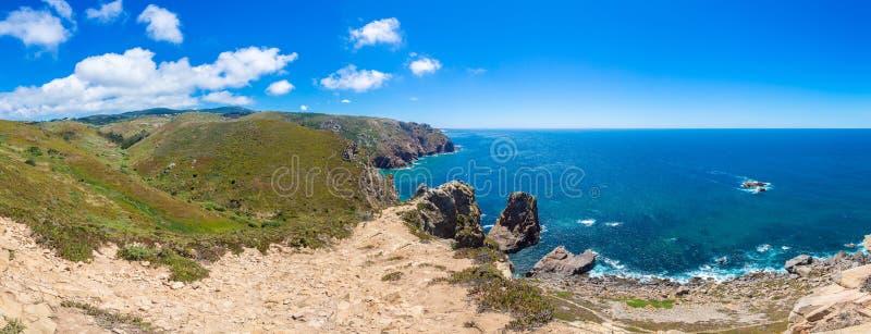 Costa de Oceano Atlântico em Portugal foto de stock royalty free