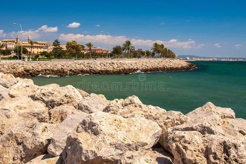 Costa de Palma de Mallorca imagen de archivo