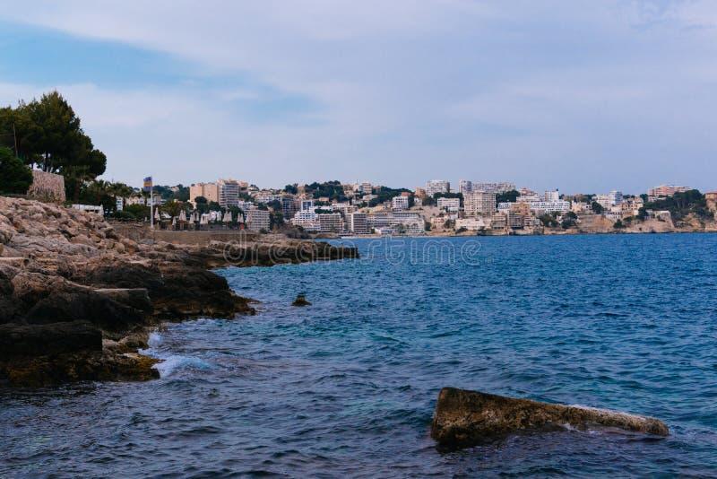 Costa de Palma de Mallorca foto de archivo