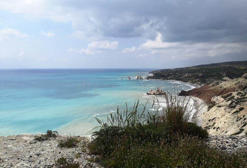 Costa costa de Paphos, lugar de nacimiento del Aphrodite fotografía de archivo libre de regalías