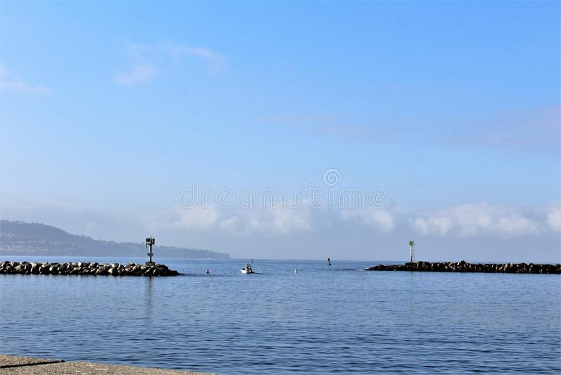 Costa de Portifino California en Redondo Beach, California, Estados Unidos fotografía de archivo libre de regalías
