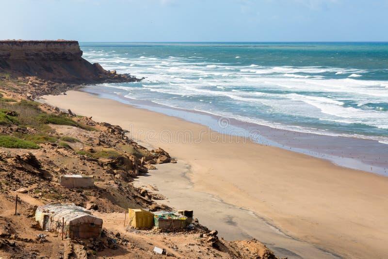 Costa de Rocky Atlantic no sudoeste de Marrocos foto de stock