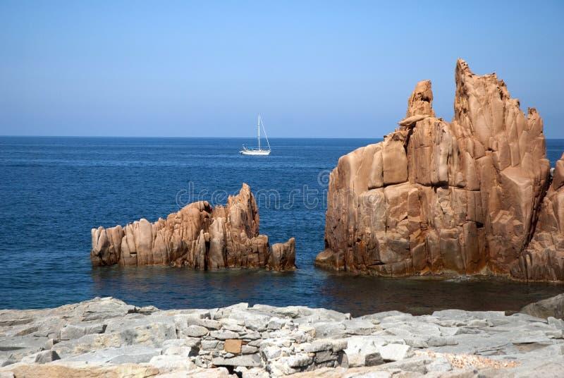 Costa de Sardinia foto de stock royalty free