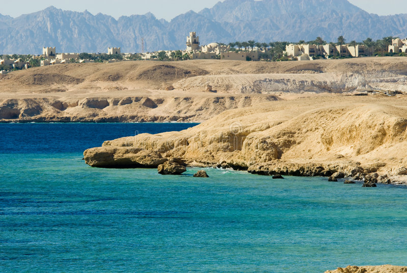 Costa de Sharm El Sheikh imagem de stock