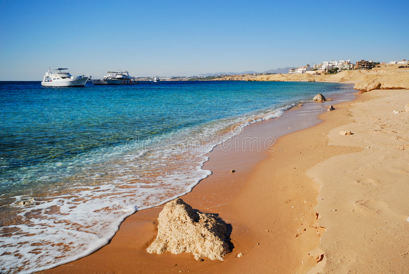 A costa de Sharm El Sheikh fotografia de stock