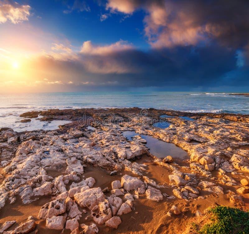 Costa de Sicília foto de stock royalty free