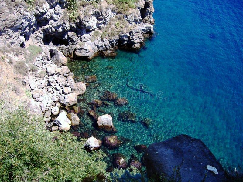 Costa de Sicilia imagenes de archivo