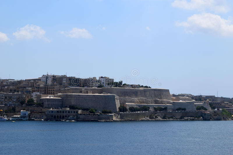 Costa de Sliema, Malta imagen de archivo libre de regalías