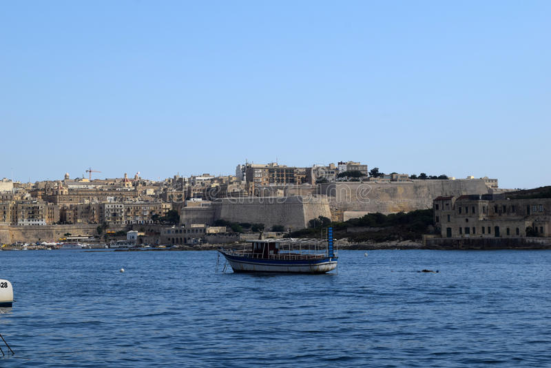 Costa de Sliema, Malta fotos de archivo