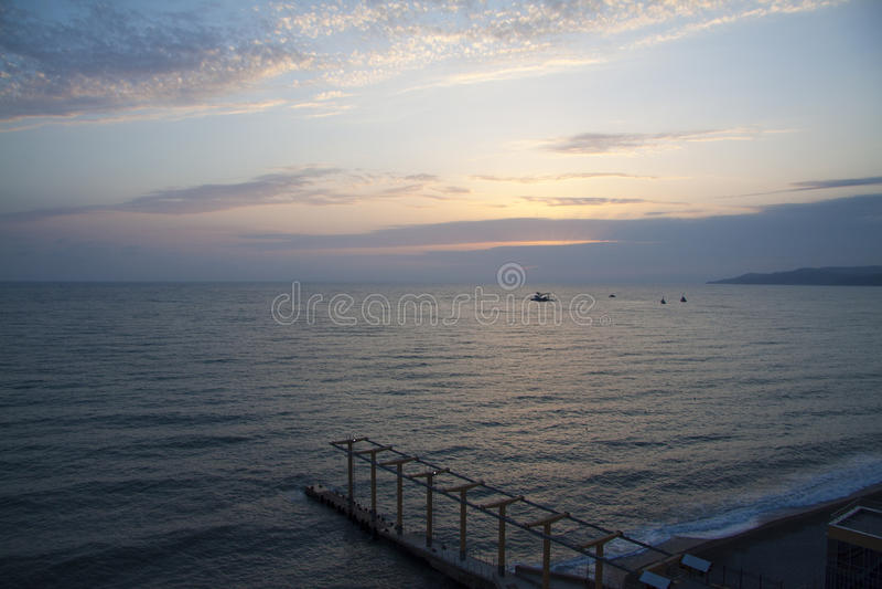 Costa de Sochi fotos de archivo