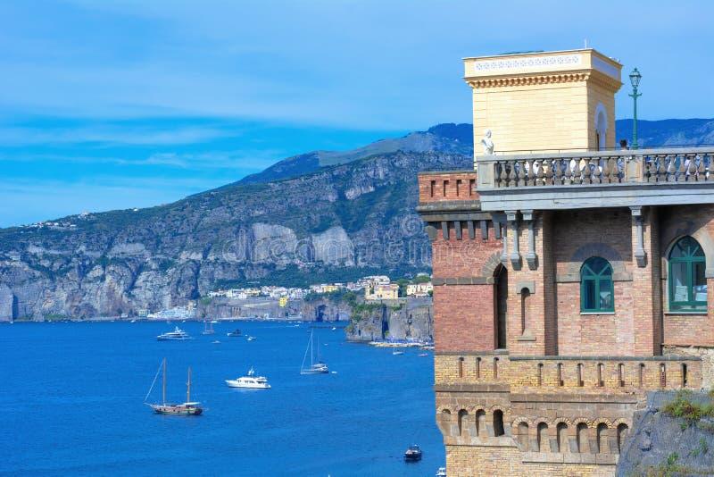 Costa de Sorrento, Itália foto de stock