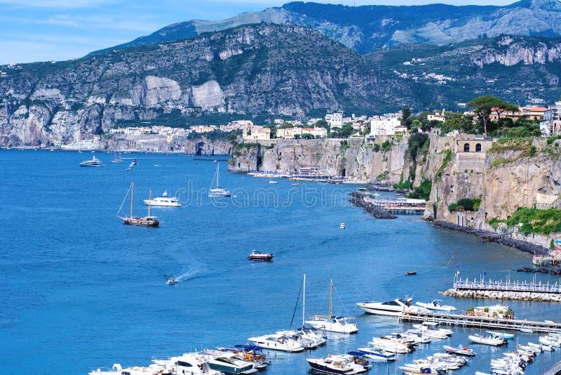 Costa de Sorrento, Itália imagens de stock royalty free