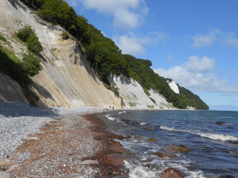 A costa de Stubbenkammer na ilha de Ruegen, Alemanha fotos de stock