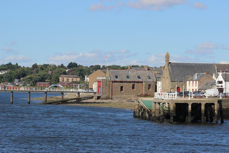 Costa de Tay del río en el transbordador de Broughty, Escocia imágenes de archivo libres de regalías
