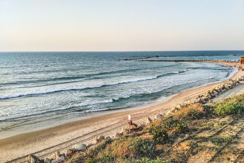 Costa de Tel Aviv fotografía de archivo