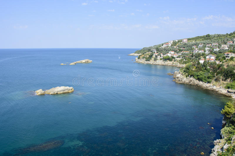 Costa de Ulcinj, Montenegro fotografia de stock royalty free