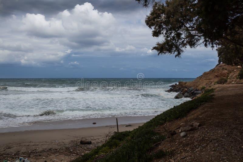Costa costa del Creta del norte, Grecia foto de archivo libre de regalías
