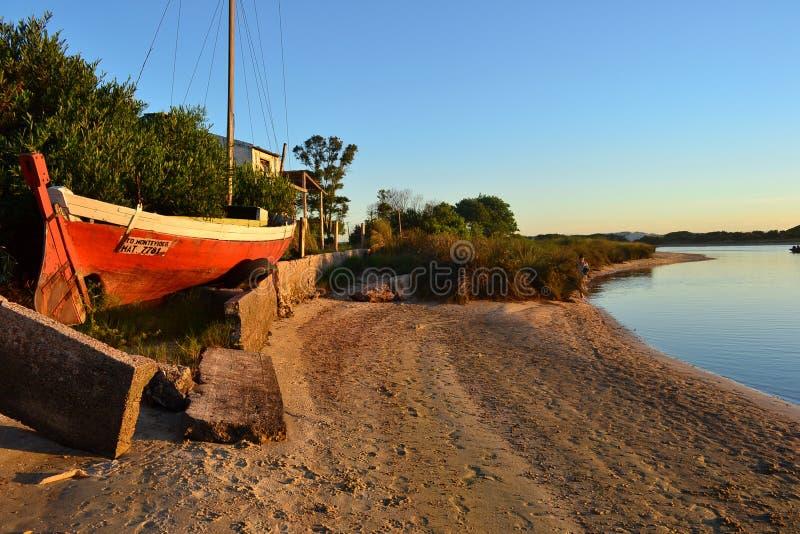 Costa del fiume in Canelones Uruguay immagine stock libera da diritti