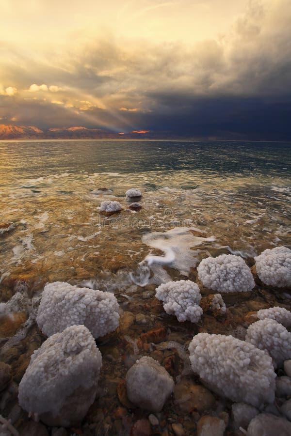 Costa del mar muerto en Israel. imagen de archivo