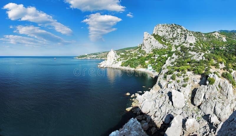 Costa del Mar Negro en Crimea fotografía de archivo