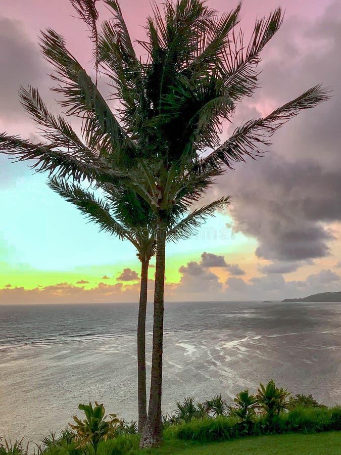 Costa del nord di alba, Kauai, Hawai, U.S.A. fotografia stock libera da diritti