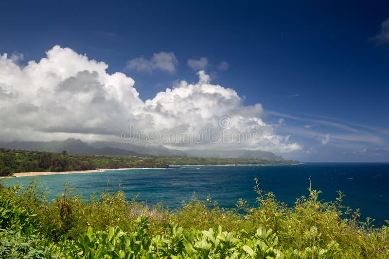 Costa del norte de Kauai fotos de archivo