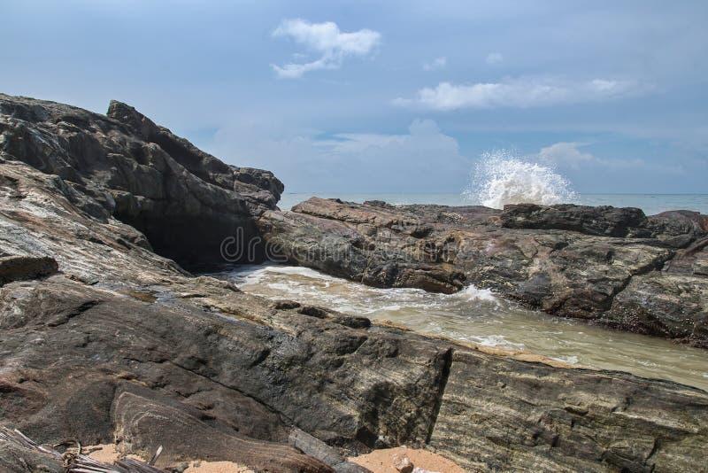 Costa del Océano Índico en Sri Lanka foto de archivo