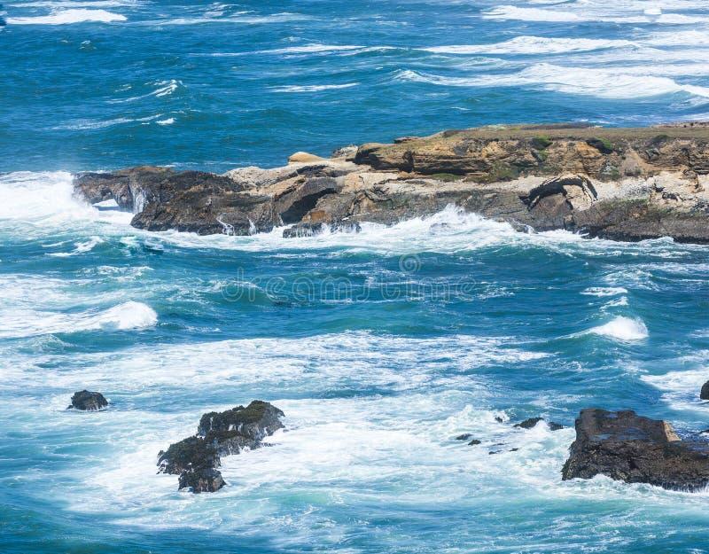 Costa del Pacífico salvaje en la arena del punto foto de archivo