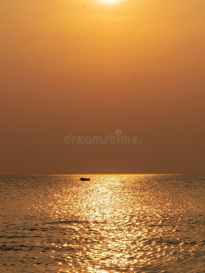 Costa del Pacifico di Costa Rica di tramonto fotografia stock