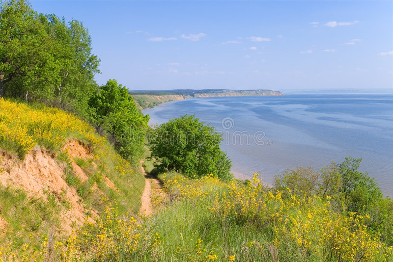 Costa del río Volga imagen de archivo