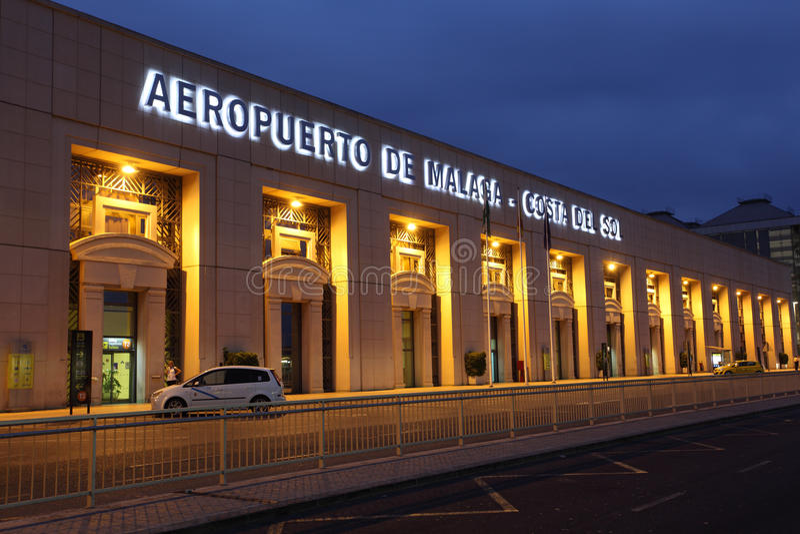 Costa del Sol机场在马拉加,西班牙 免版税库存图片