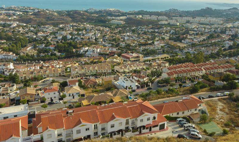 Costa del Sol vista da parte superior da montagem Calamorro foto de stock royalty free