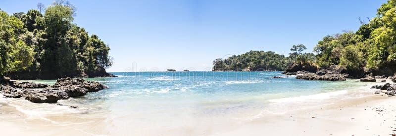 Costa dell'oceano in parco nazionale Manuel Antonio, Costa Rica fotografia stock libera da diritti