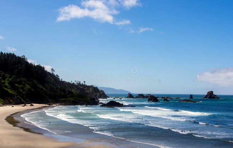 Costa dell'Oregon fotografie stock libere da diritti