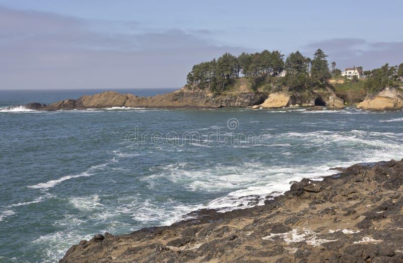 Costa dell'Oregon vicino a Lincoln City Oregon fotografie stock