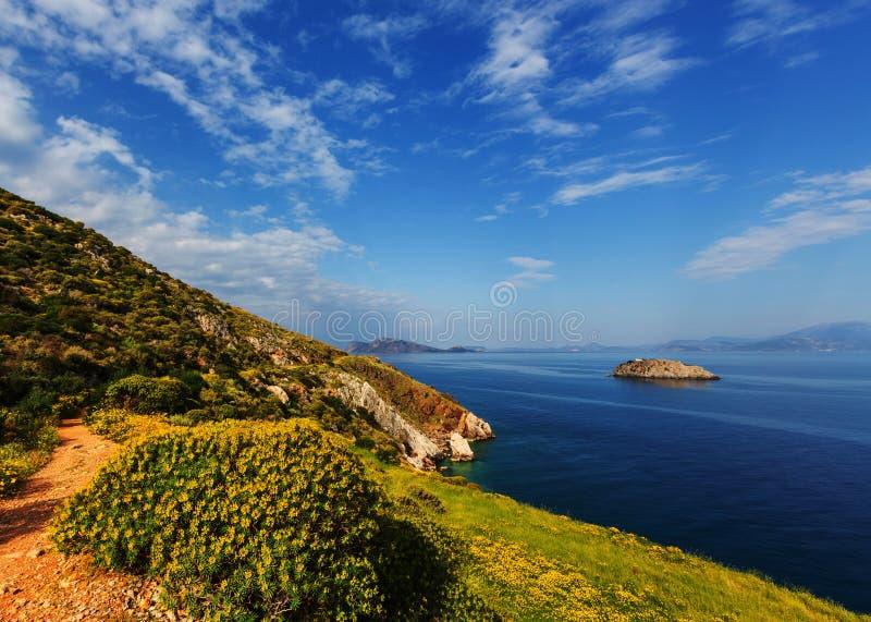 Costa della Grecia fotografia stock libera da diritti