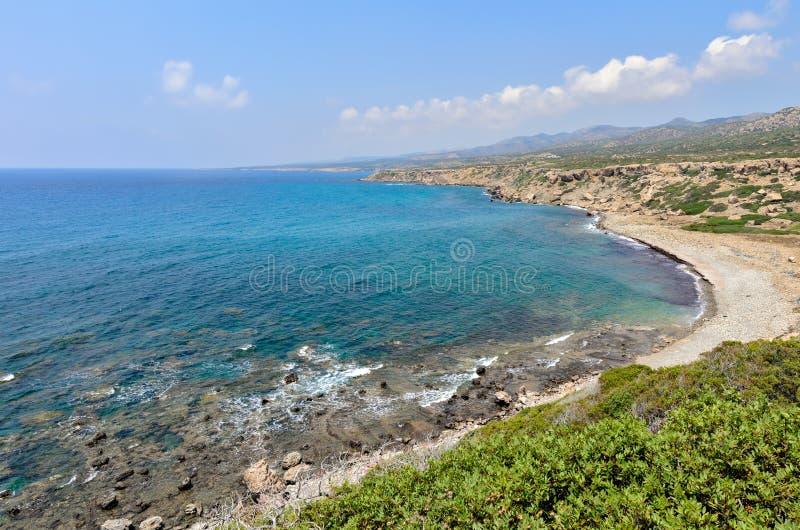 Costa della penisola di Akamas sul Cipro fotografia stock