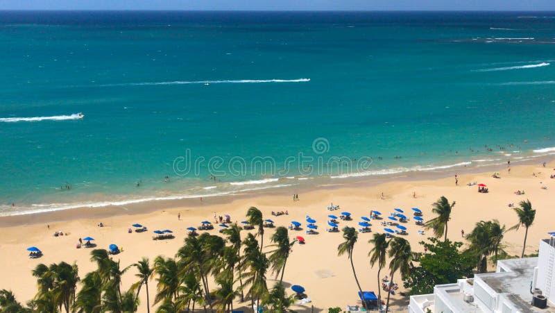 Costa della spiaggia nel Porto Rico San Juan fotografie stock