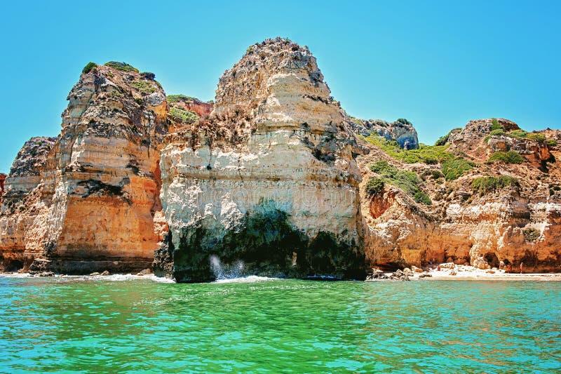 Costa di Algarve immagini stock