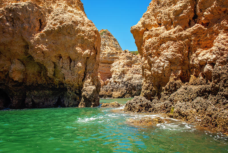 Costa di Algarve fotografie stock libere da diritti